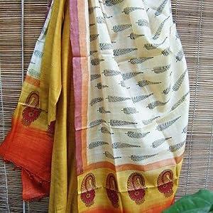 Tota Myna ADT022 Tussar Silk Dupatta