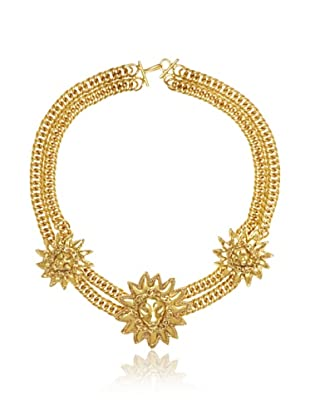 CHANEL Lion Gold Choker Necklace