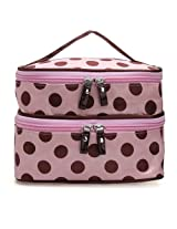 Travel Dot Zip Womens Toiletry Bag Cosmetic Makeup Wash Organizer Case (#02)