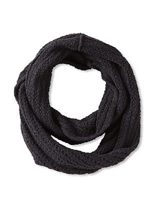 525 America Women's Textured Infinity Scarf, Black