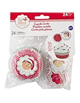 Wilton 415-8552 24 Count Elf on The Shelf Cupcake Baking Cups and Picks
