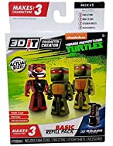 3D Character Creator Teenage Mutant Ninja Turtles Basic Refill Pack Style 2 Novelty Toy