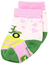 John Deere Baby Girls' Girls' Tractor Crew 1 Pack, Pink/Green, 12 Months