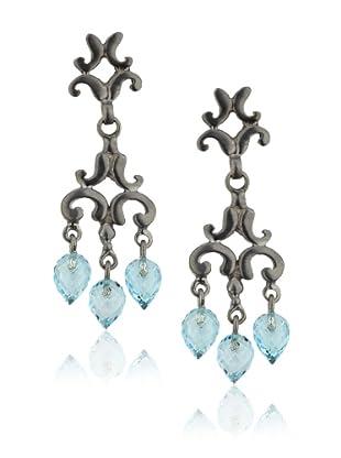 Robin Rotenier Sophie Earrings, Silver/Blue Topaz