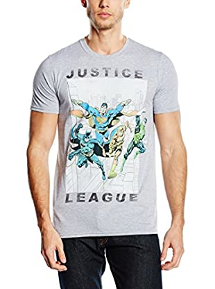 DC Comics T-Shirt Manica Corta Justice League Flying