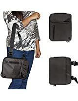 DMG Padwa Lifestyle Shockproof Soft Sleeve Carrying Vertical Messenger Nylon Bag Case with Handle and Shoulder Strap for Asus Vivo Tab TF 600 (Coffee)