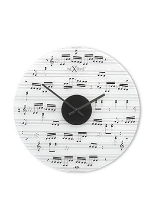 NeXtime Music Wall Clock (White/Black)