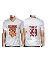 Anger Beast Pathan Hyderabad White Sweat Free T shirt H PAT 00
