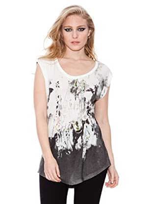 Firetrap Camiseta Contraste (Blanco)