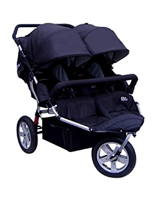 Tike Tech City X3 Swivel Double Stroller with Bonus Rain Cover, Black