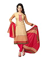 Vaamsi Women's Salwar Suit Dress Material(Cocp21_Beige_ Free Size)