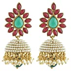 Abhi fashions Green and Maroon Jhumki for Women