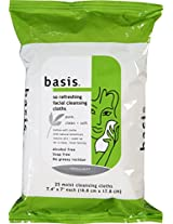 Basis So Refreshing Facial Cleansing Cloths 25 ct (Pack of 6)