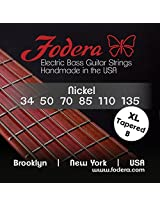 Fodera Electric Bass Guitar Strings, Roundwound 6-String Nickel - 34135 XL TB