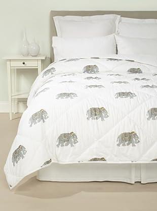 Jaipur Bedding Elephant Quilt (Cloud)