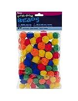 Darice Pom-Pom Primary Beads (90 Pack)