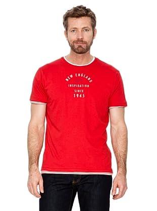 Cortefiel Camiseta Letras (Rojo)