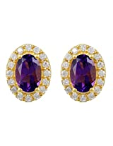 Exxotic Stunning Trend Gold Plated Silver Stud Earring For Girls & Women