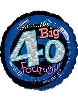 "Anagram International Oh No, Birthday 40 Foil Balloon, 18"", Multicolor By Anagram International"
