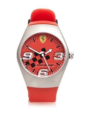 Ferrari Reloj de Acero Pitstop 12725 (Rojo)