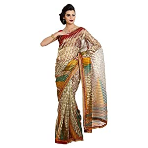 Aaboli 8907185123499 Net Sari Off-White