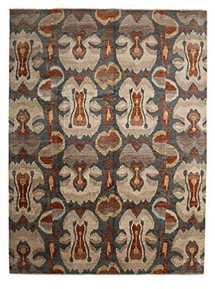 Darya Rugs Ikat Oriental Rug, Red, 9' 1