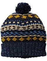 Muk Luks Women's Fair Isle Hat with Pom-Pom