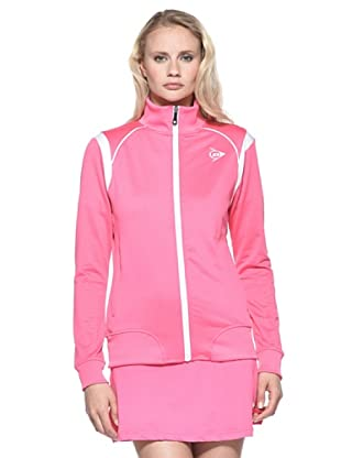 Dunlop Abbigliamento Ladies - Knitted Jacket (Rosa/Bianco)
