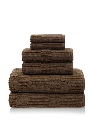 Chortex Oxford 6-Piece Bath Towel Set, Khaki