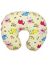 Wonderkids Yellow Cow Print Baby Feeding Pillow
