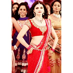 Prachi desai red wedding saree in policegiri-Frinkytown