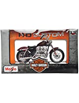 Maisto Harley Davidson 2012 XL 1200V Seventy Two Scale-1:18 Die Cast Toy Motorcycle (Metallic Red)
