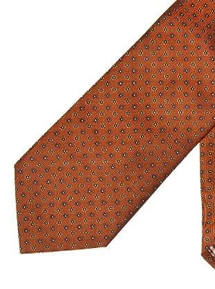 Cortefiel Corbata Seda Dibujo (marrón)