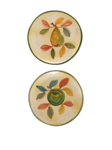 Modigliani Set of 2 Frutta Laccata Salad Plates, 8