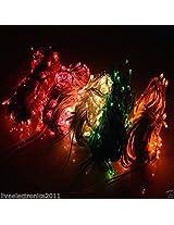 Laxmi Rice Lights, Pack of 15 Rice Lights, 15 Feet Long, 25 Bulbs - Red x3, Blue x3, Pink x3, Yellow x3, Green x3,