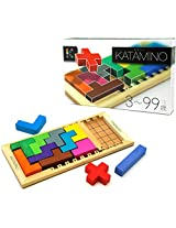 20 Wood Playing Pieces & Wooden Game Board