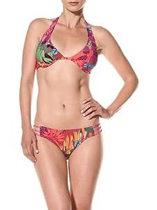 Nanette Lepore Swim Women's Polynesian Paradise Charmer Bikini Bottom (Tropical)