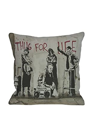 Banksy Thug for Life Pillow