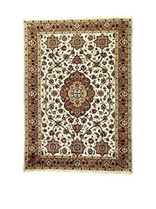 L'Eden del Tappeto Teppich Kashmirian F/Seta ecru/braun 236t x t169 cm