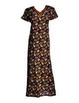 Soulemo 159B Womens Cotton Bronze Khakhi Nightwear , nighty , cotton nighty.