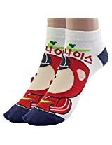 1 Pair Mixed Cotton Unisex ANKLE SOCKS for Women's Ladies - L94