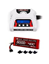 Venom Sport Power 40 C 2 S 5000m Ah 7.4 V Li Po Battery Roar Approved With Uni Plug & 2 4 Cell Ac/Dc Charger Combo