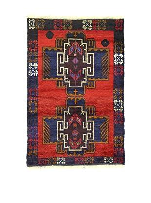L'Eden del Tappeto Teppich Beluchistan rot/blau 131t x t86 cm