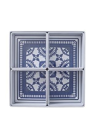 Bongenre Louis Minuit 5-Piece Tray Set (Navy/White)