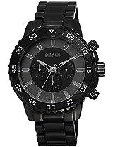 August Steiner Men's AS8101BK Swiss Quartz Multifunction Black Bracelet Watch