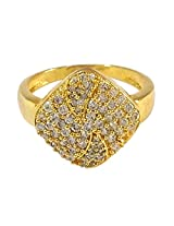 R S Jewels Cz Studded Gold Plated Rings For Womens