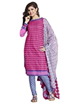 EthnicVibe Cotton Printed Dress Material