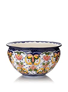 NOVICA Ceramic Flower Pot, Starlight Flowers