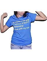 MOLECULES Blue T-Shirt for Women- Size XL