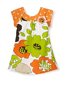 Beetlejuice Girl's 2T-6X Buttercream Print Baby Doll Dress (Print)